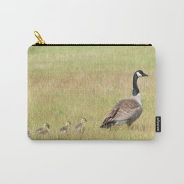 Goslings following mama Canada Goose Carry-All Pouch