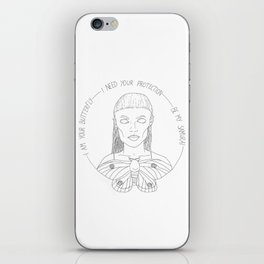 I am your Butterfly iPhone Skin