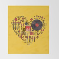 Music in every heartbeat Throw Blanket