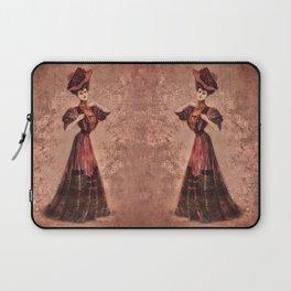 Woman in red Edwardian Era in Fashion Laptop Sleeve