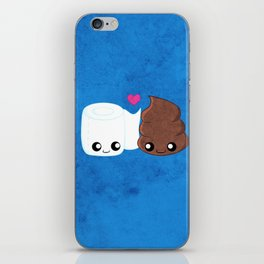 The Best of Friends - Toilet Paper and Poop iPhone Skin