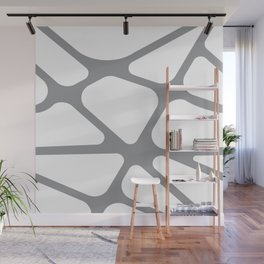Unique gray and white organic design Wall Mural