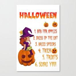 Halloween Shirt_ Funny Halloween Costumes For Women_Men Canvas Print