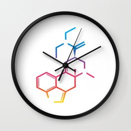 """Great Laboratory Tee For Scientists """"Genetics"""" T-shirt Design Flask Experiments Sci Chemist Wall Clock"""