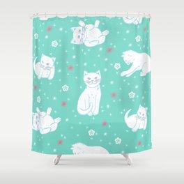 Snow Kitties Shower Curtain