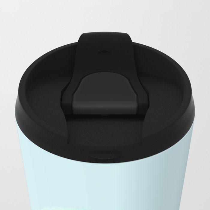 Blue ice cream Metal Travel Mug