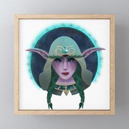 High Priestess of Elune Framed Mini Art Print