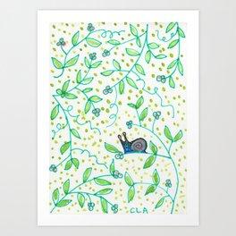 Snail Heaven Art Print