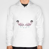 afro Hoodies featuring Afro flamingos by Iratxe González