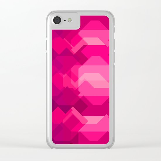 Gemstone - Ruby Clear iPhone Case