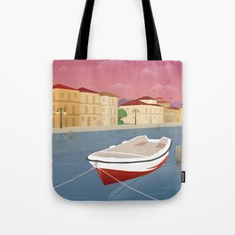 Lefkada, Western Waterfront Tote Bag