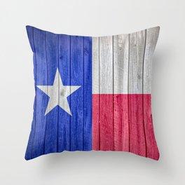 Texas State Flag Barn Wall Gifts Throw Pillow
