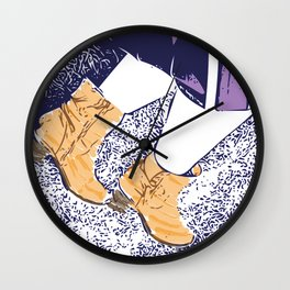 These boots are made for walking Wall Clock