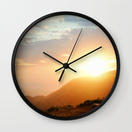 Sunset at Marin Headlands Wall Clock