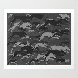 WEIMOUFLAGE GREY Art Print