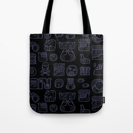 Picto-glyphs Story--Negro Tote Bag