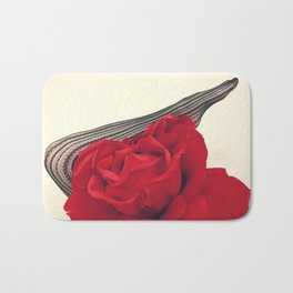 She's a Lady - Surreal Rose Portrait with Sexy Legs Bath Mat