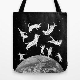 Cosmic Cat Space Tote Bag