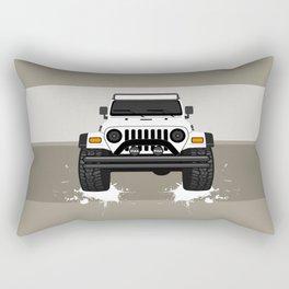 [JEEP] White TJ Rectangular Pillow
