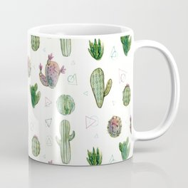 Cactus and Triangles Coffee Mug