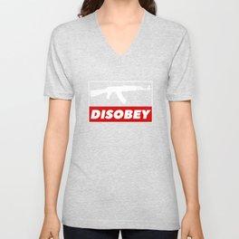 DISOBEY Unisex V-Neck
