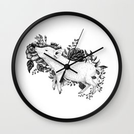 Pig - Go Vegan Wall Clock