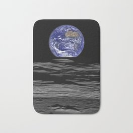 Earth Rising over the Horizon of the Moon Bath Mat