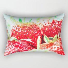 Fresh Strawberries Rectangular Pillow