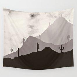 Arizona Desert Cactus Mountain Landscape Wall Tapestry
