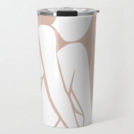 tan abstract nude 3 Travel Mug