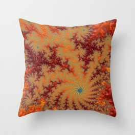 Crimson Alley - Fractal Art Throw Pillow