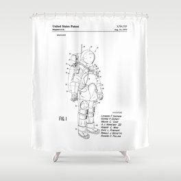 NASA Space Suit Patent Shower Curtain