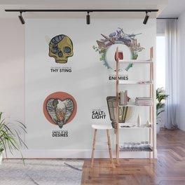 4 Biblical phrases Wall Mural