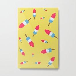 Popsicles - Retro Pattern  Metal Print