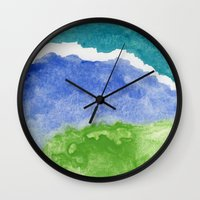 salt water Wall Clocks featuring Salt Water by Beth Thompson