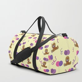 Teddy for girls with balloons Duffle Bag