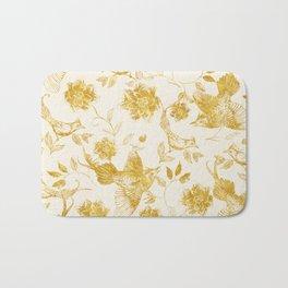 Oriental birds gold Bath Mat