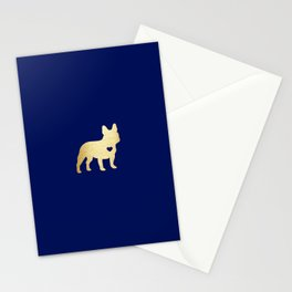 French Bulldog Gold Stationery Cards
