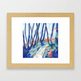 Mount Davidson - Blue Framed Art Print