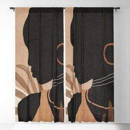 Tropical Girl 30 Blackout Curtain