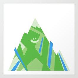 Smiley Mountain Art Print