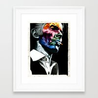 bowie Framed Art Prints featuring Bowie by Cartyisme