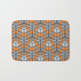 cascade - orange Bath Mat