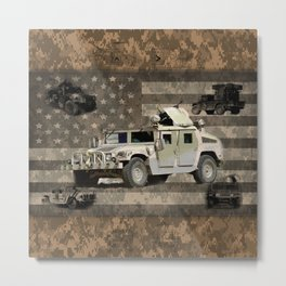 Humvee Military Vehicle Metal Print