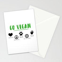 Go Vegan Stationery Cards