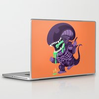 xenomorph Laptop & iPad Skins featuring Cute Xenomorph by nocturnallygeekyme