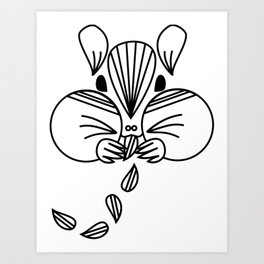 Chippy Art Print