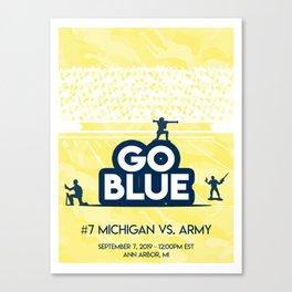 Michigan vs Army - September 7th Canvas Print