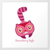 cheshire Art Prints featuring Cheshire by gabriela