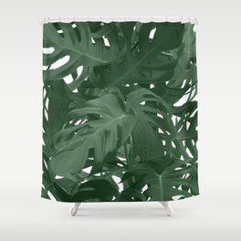 Monstera Jungle Paint Shower Curtain